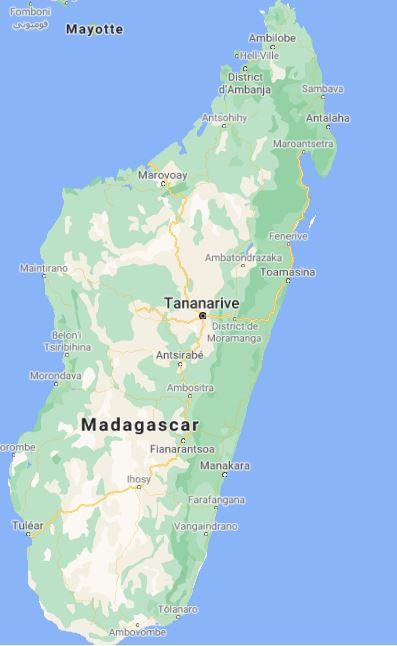 Une photo satellite de Madagascar