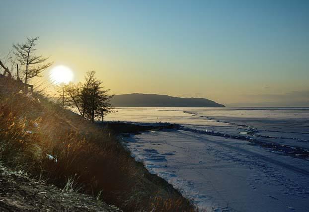 coucher de soleil au Lac Baïkal