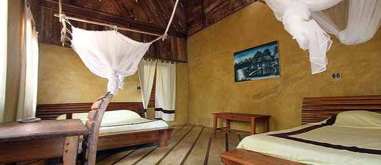 Photo d'un bungalow du Palmarium à Madagascar