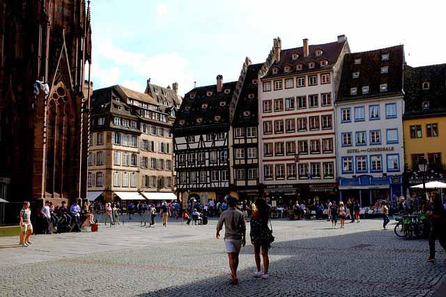 La place Gutenberg à Strasbourg, France