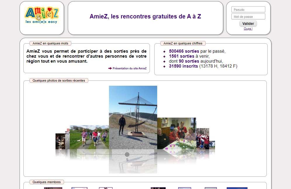 Le site internet Amiez.org