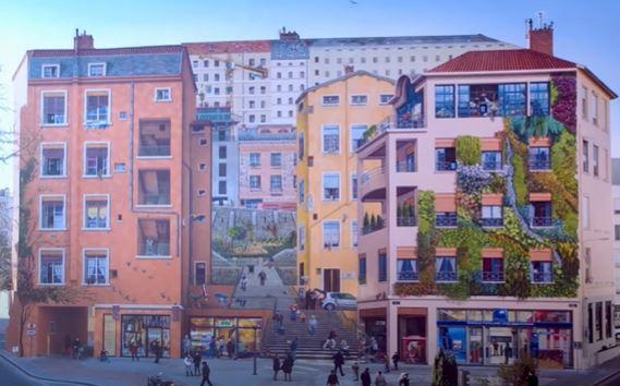 le mur des canuts à Lyon en 2013
