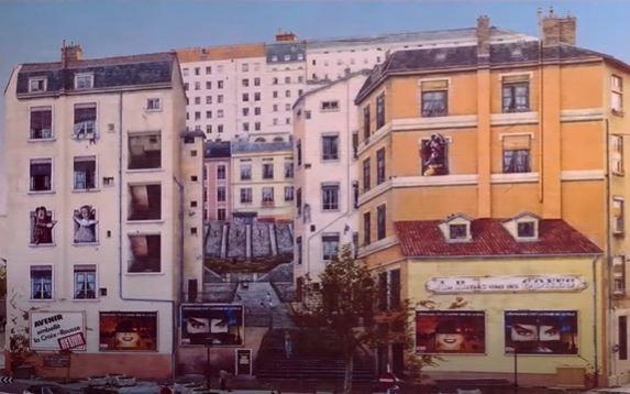 le mur des canuts à Lyon après le première peinture