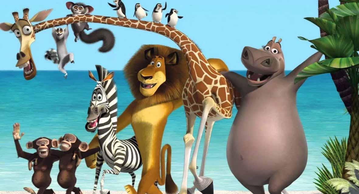 Les personnages du film Madagascar