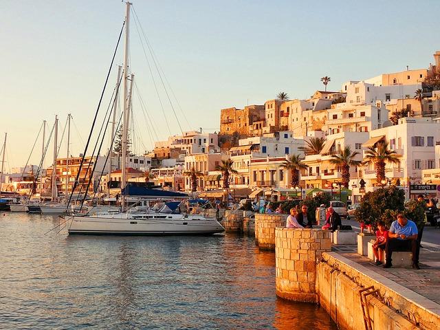 Le port de Naxos en fin de journée