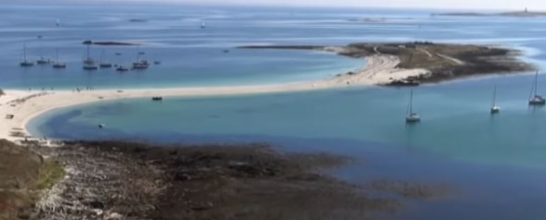 Saint-Nicolas des Glénan: La plage de l'île Saint-Nicolas -