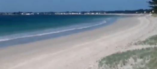 La plage de Kermor à Sainte-Marine